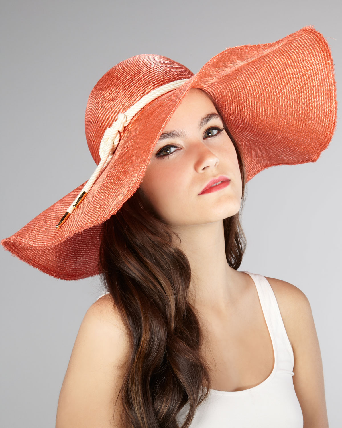 Lyst - Eugenia Kim Coral Sun Hat in Pink a286c437657