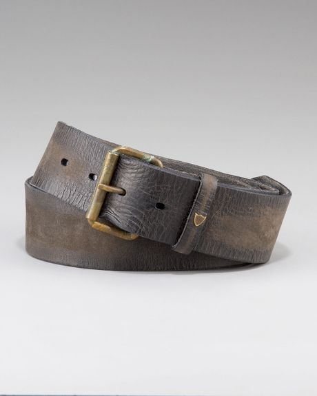 trading company vintage leather belt in gray for