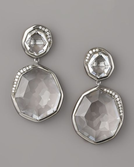 Ippolita Clear Quartz & Diamond Earrings in Silver (cq) - Lyst