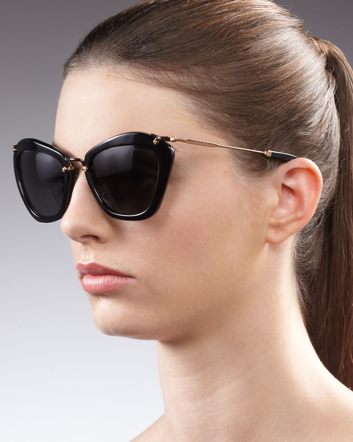 633273a0606 Lyst - Miu Miu Catwalk Sunglasses in Black