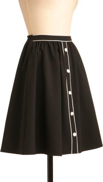 Modcloth city outline skirt in black white lyst
