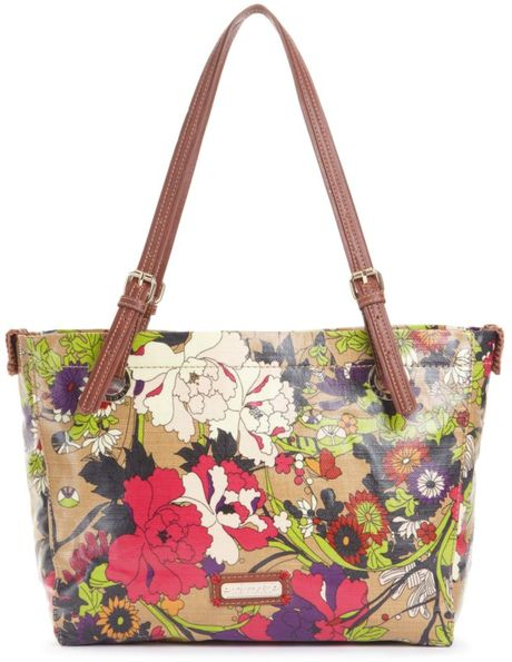 The Sak Artist Circle Satchel in Multicolor (taupe flw power) - Lyst