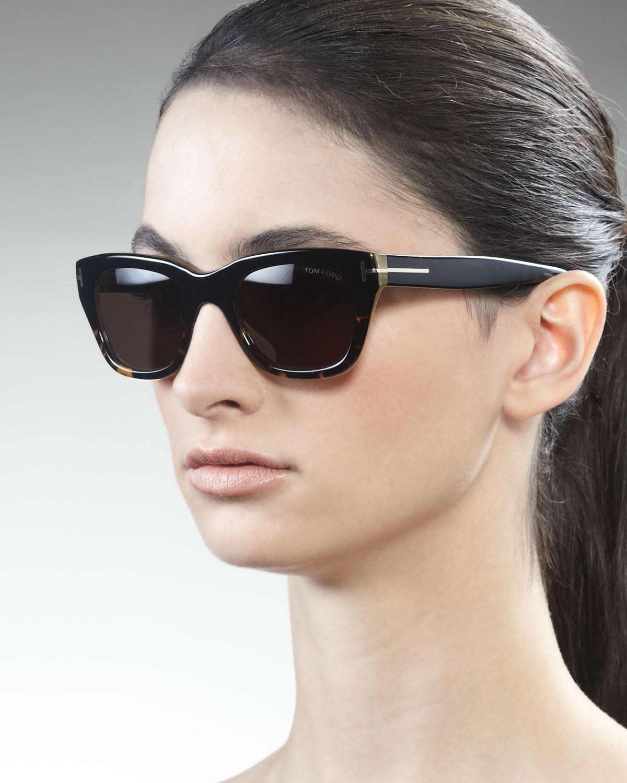 tom ford snowdon sunglasses blackhavanahoney in black. Black Bedroom Furniture Sets. Home Design Ideas