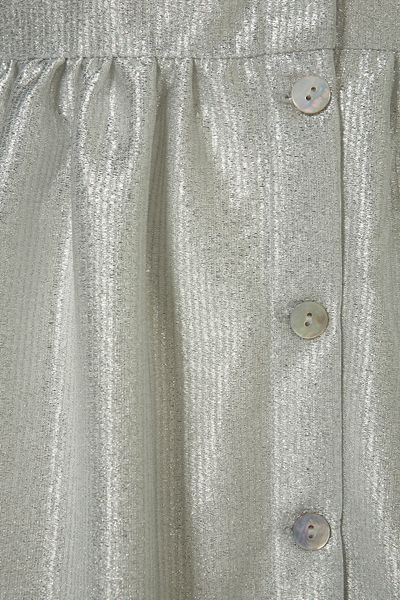 Silver Metallic Dress Dress in Silver Topshop
