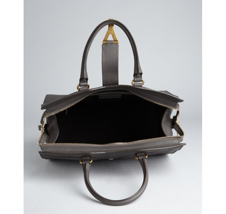 ysl charcoal leather handbag messenger