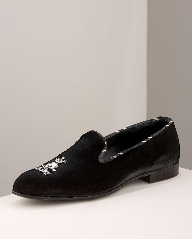 Barker Black Skull Shoes