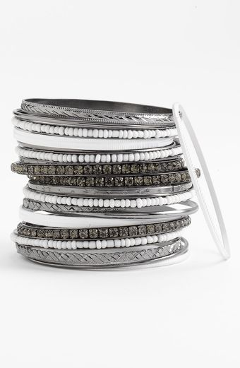 Cara Accessories Mixed Media Bangles - Lyst