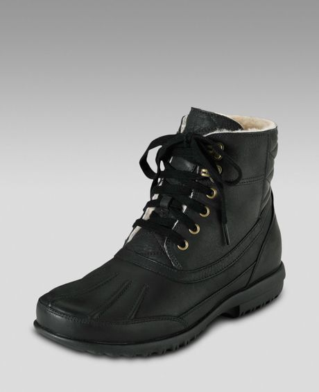 cole haan air rhone winter boot in black for lyst