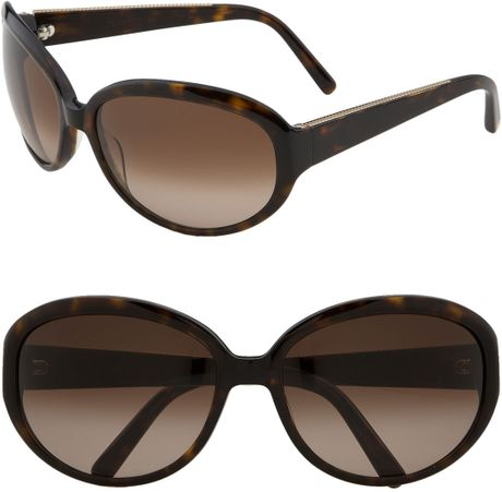 David Yurman Cabled Oval Frame Sunglasses in Brown ...