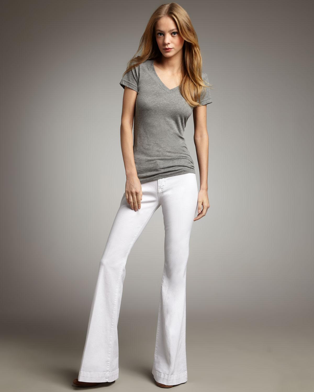 Hudson jeans Ferris Flare Jean in White | Lyst