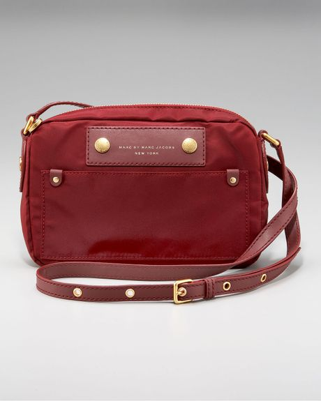 Marc By Marc Jacobs Preppy Nylon Camera Bag Crossbody in Red (black)