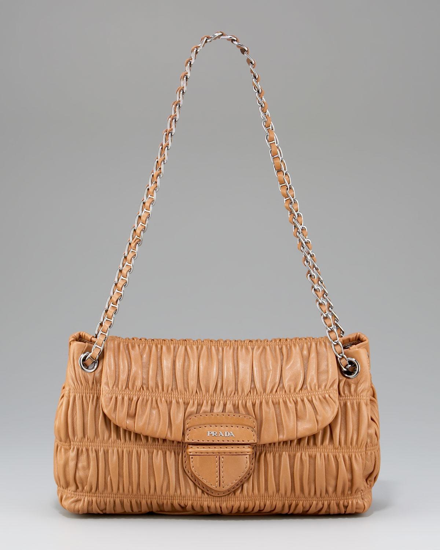 988ba e0883  new zealand lyst prada napa gaufre chain shoulder bag canne in  brown 8f816 4ca80 2748f19809826