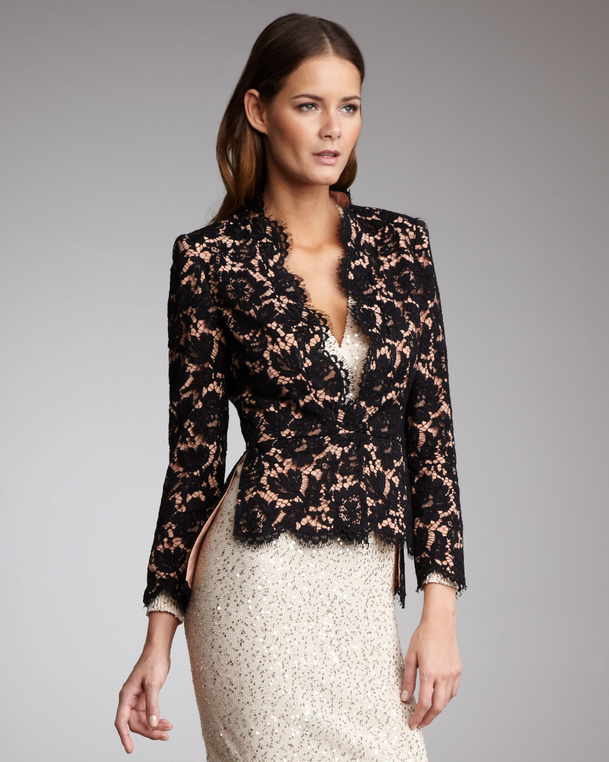 Lace Evening Jackets for Women_Evening Dresses_dressesss
