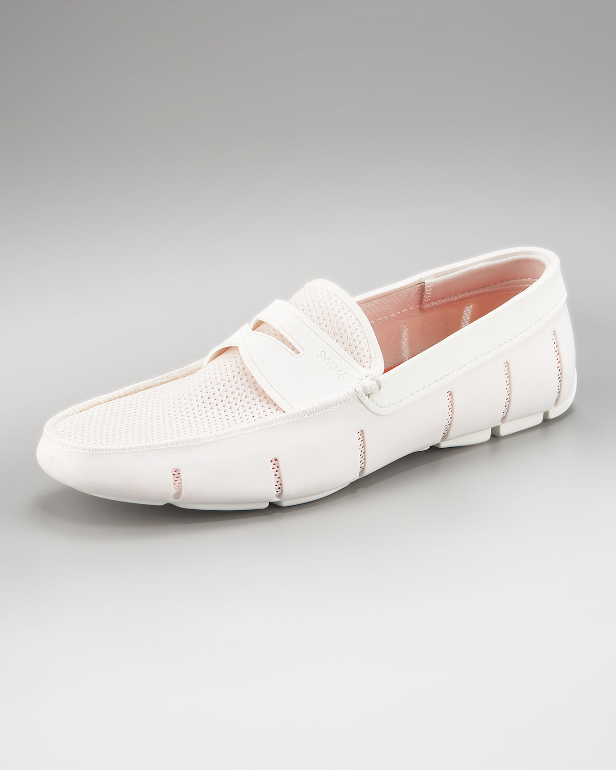 Swims Rubber Penny Loafer White in White for Men | Lyst