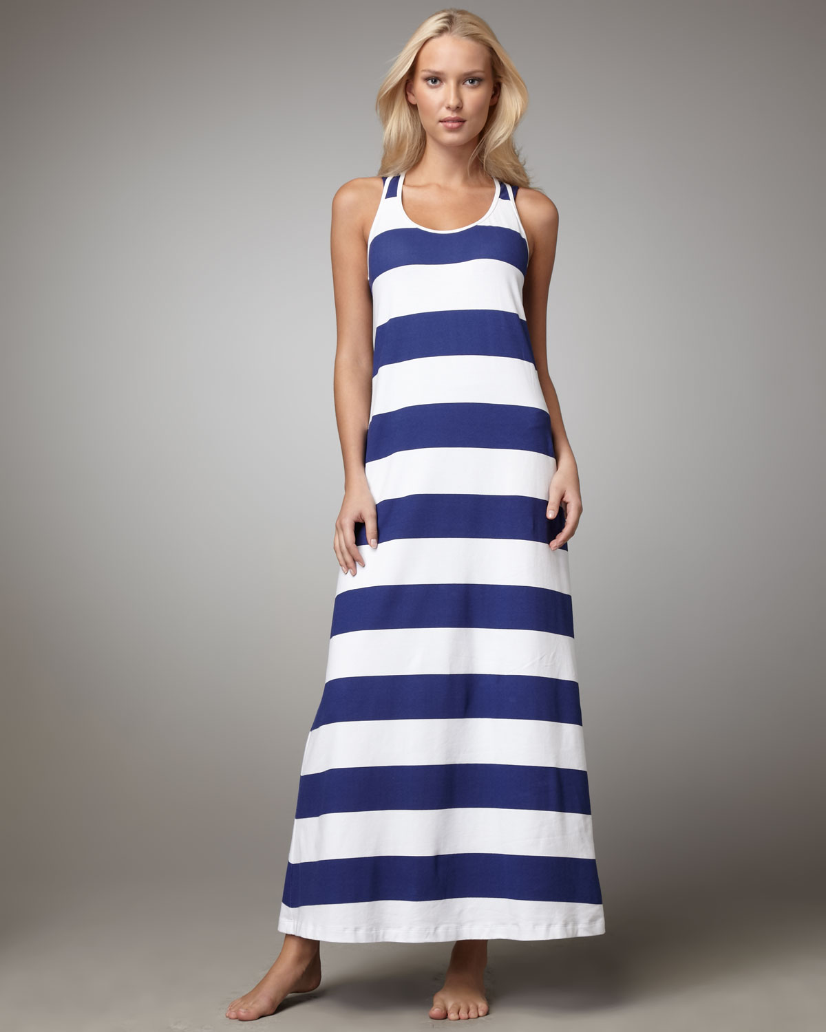 Tommy bahama Striped Maxi Dress in Blue - Lyst