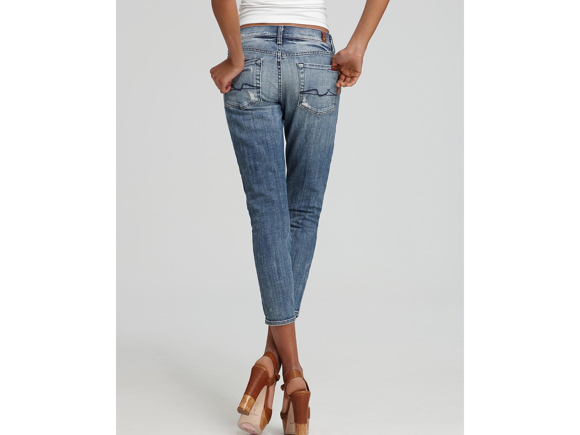 ash 7 for all mankind jeans roxanne crop skinny jeans in. Black Bedroom Furniture Sets. Home Design Ideas