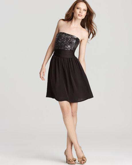 Black Sequin Top Dress Dress Sequin Top Strapless