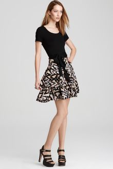 DKNY Layered Skirt System Dress - Lyst