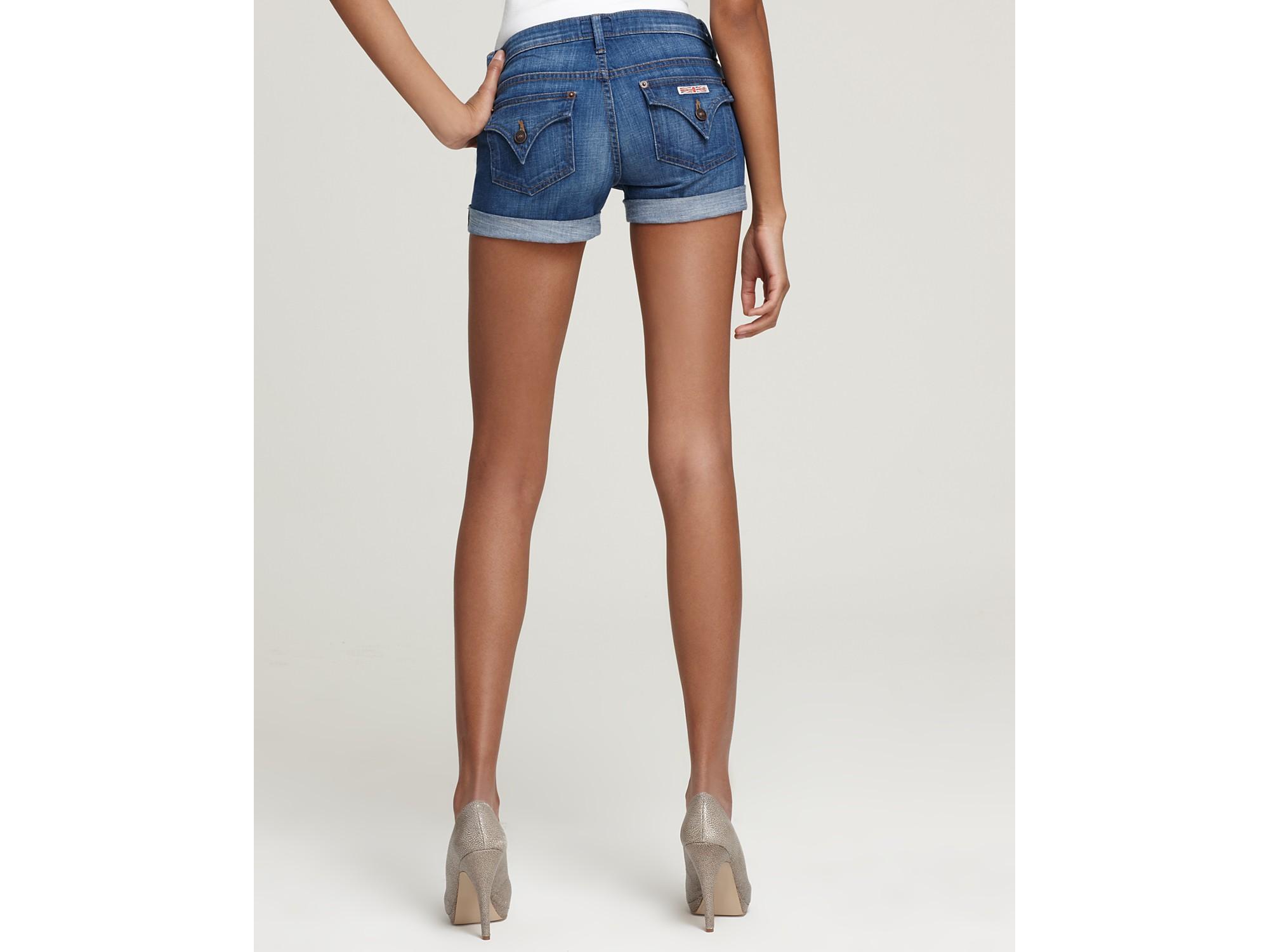 Hudson jeans Shorts Hampton Cuffed Denim Shorts in Blue   Lyst