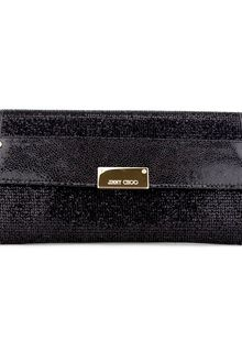 Jimmy Choo Black Glitter Reese Clutch - Lyst