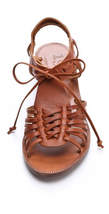 Madewell Huarache Wedge Sandals In Brown Lyst