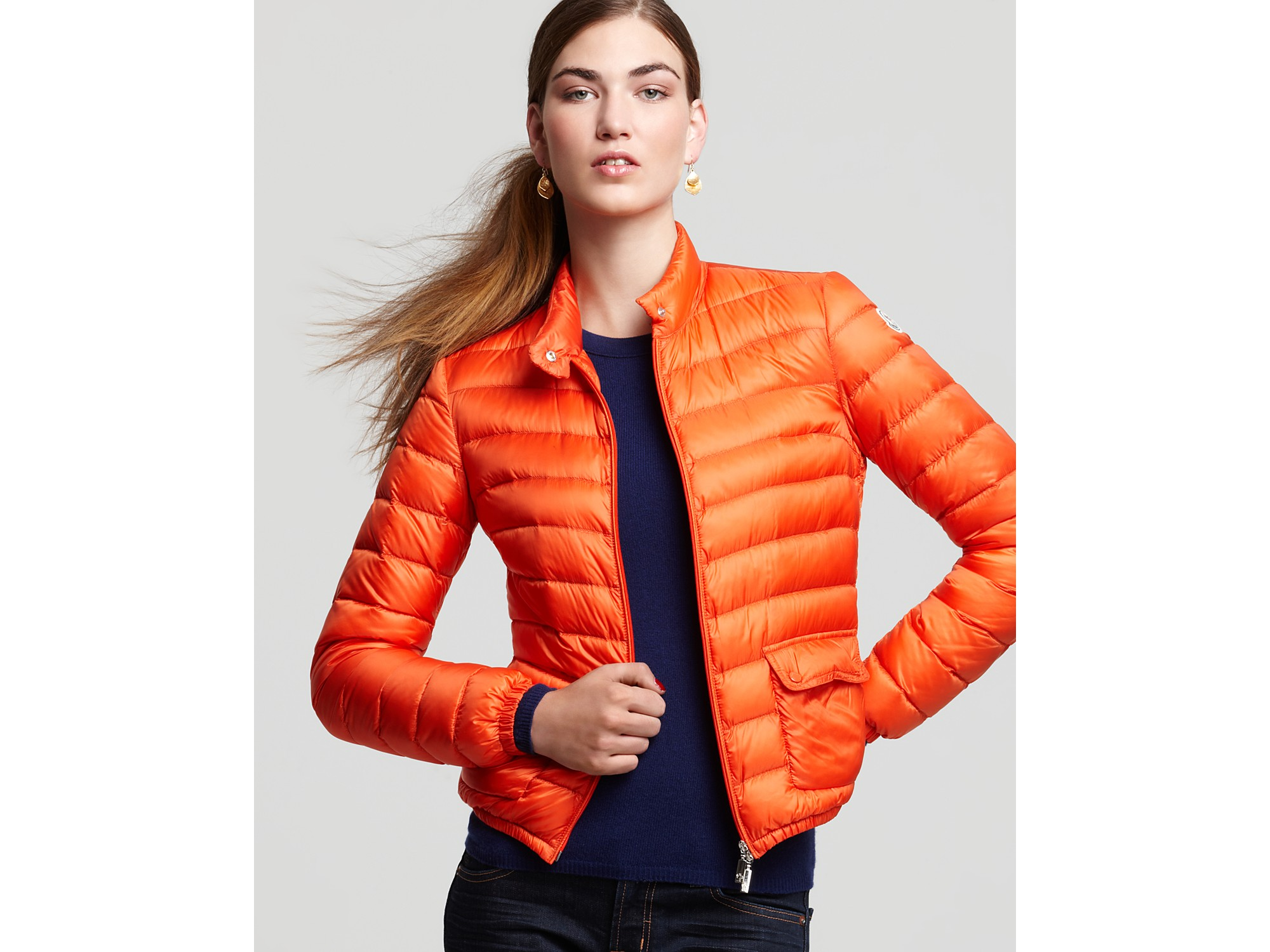 Women's Blue Lans Short Puffer Jacket