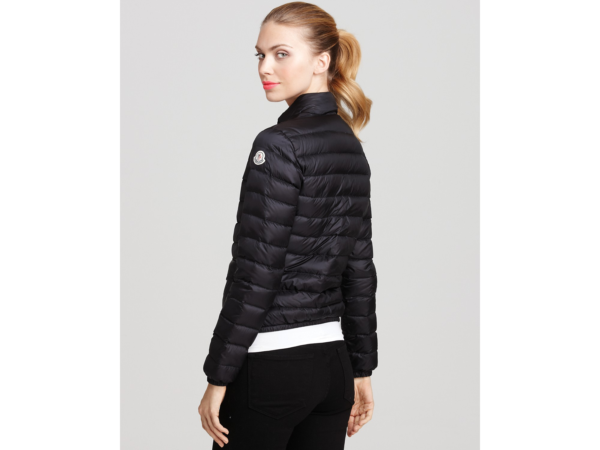 Moncler Lans Short Puffer Jacket in Blue | Lyst