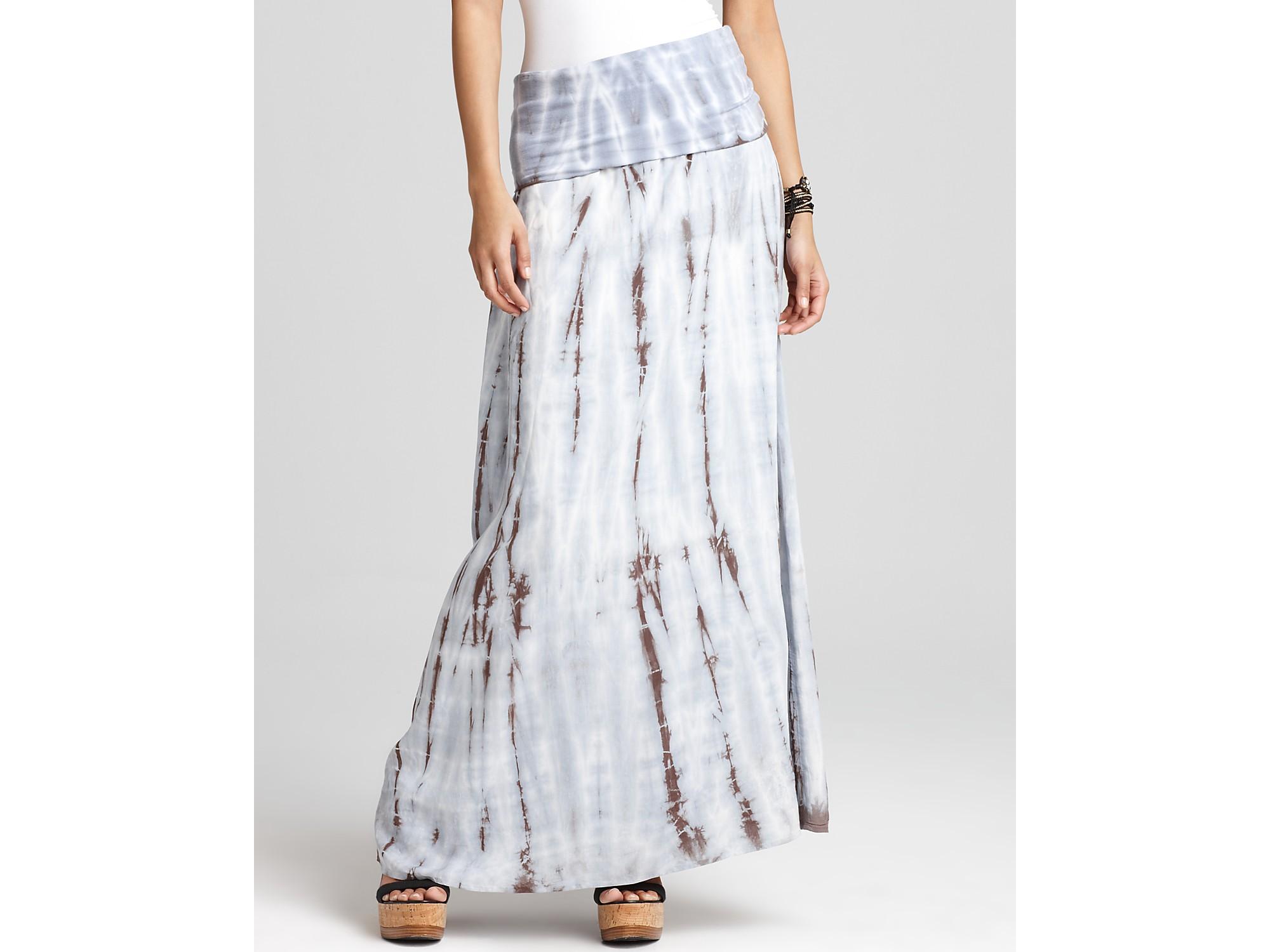 splendid feather tie dye maxi skirt in blue coconut lyst