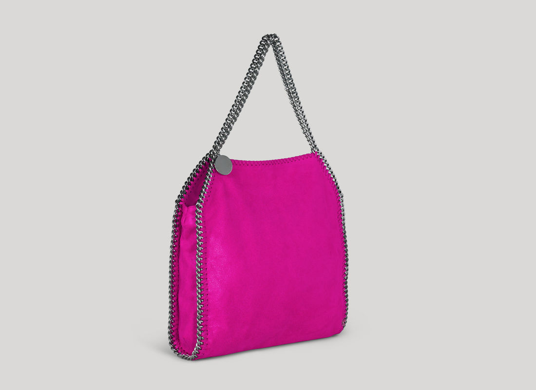 Stella McCartney Falabella Shaggy Deer Small Tote in Pink