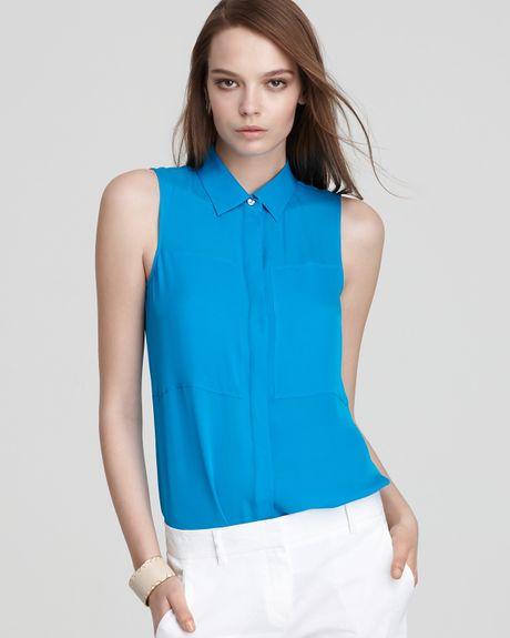 H&M Blue Sleeveless Blouse 89
