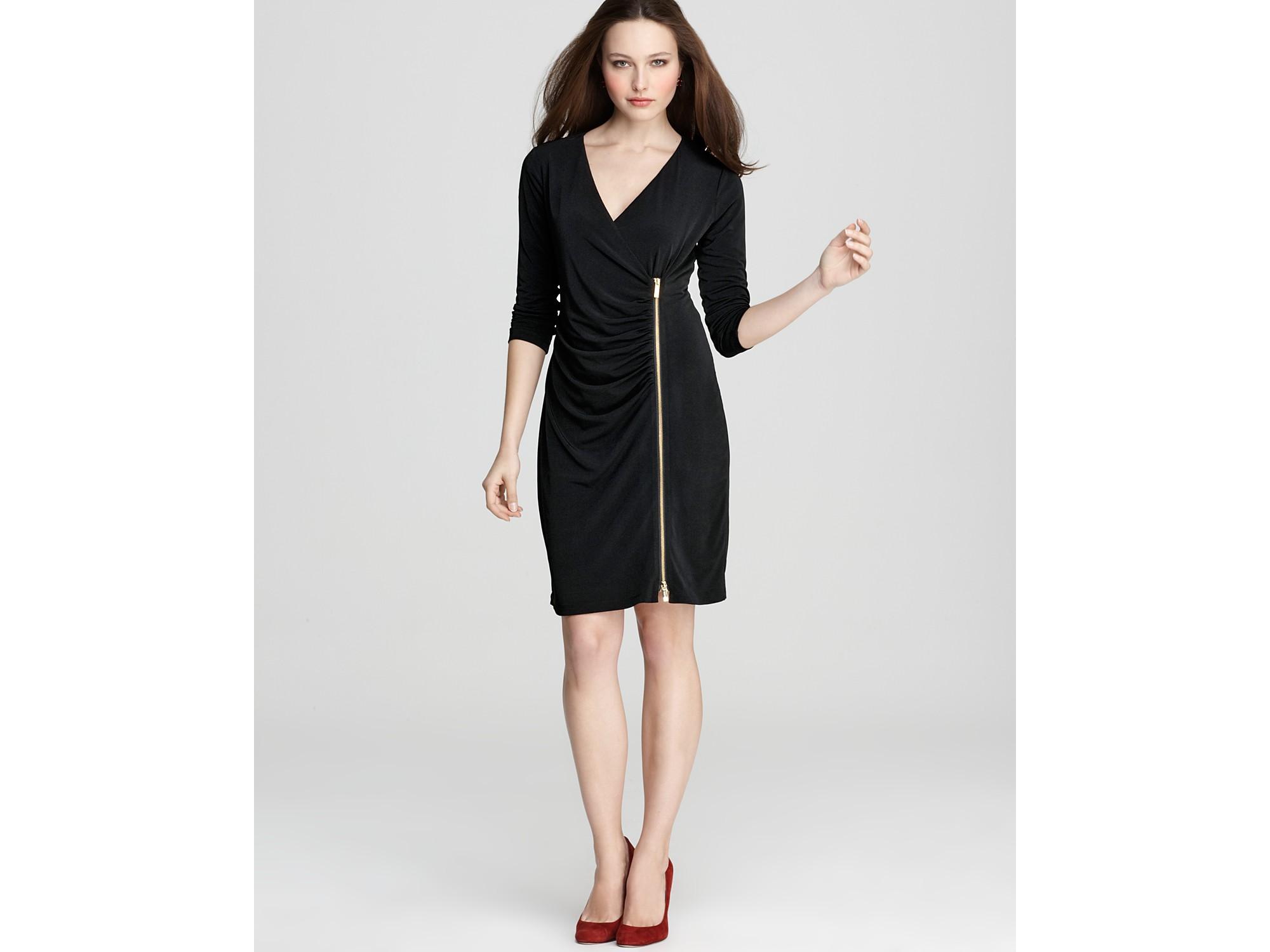 Calvin Klein Exposed Zipper Dress In Black Lyst