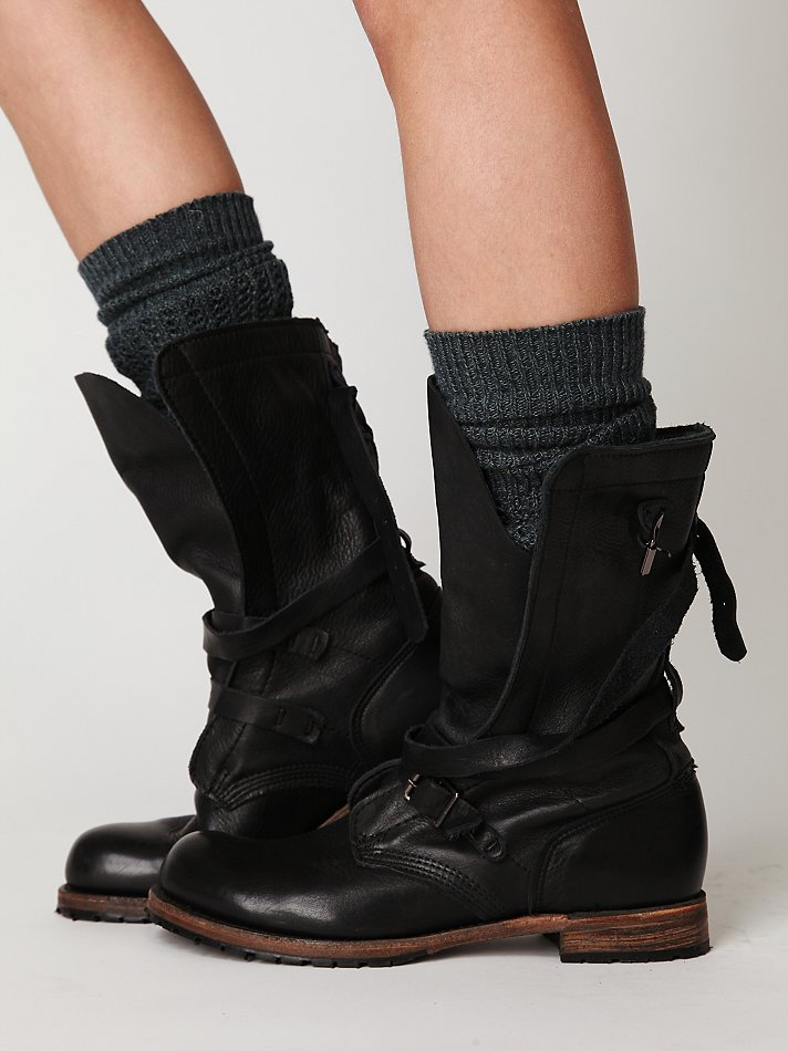 Lyst Free People Rayna Wrap Boot In Black