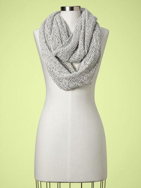 gap open weave infinity scarf in gray black white lyst