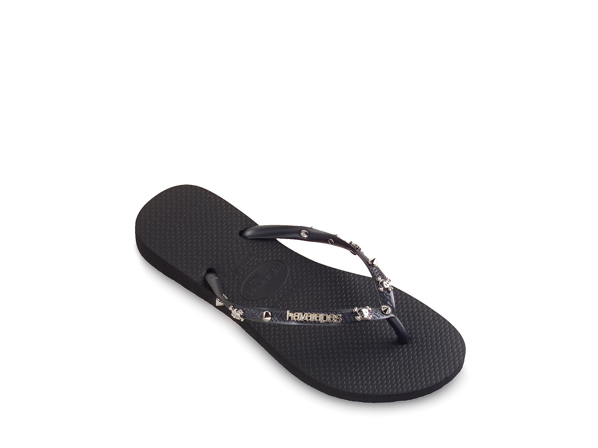 Havaianas Flip Flops Slim Hardware In Grey Black Lyst