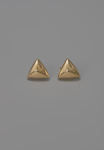 House Of Harlow Pyramid Stud Earrings Yellow Gold in Gold (yellow) - Lyst