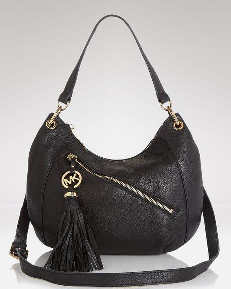 Italy Michael Kors Blake Shoulder - Bags Michael Kors Charm Tassel Convertible Shoulder Bag Black 1