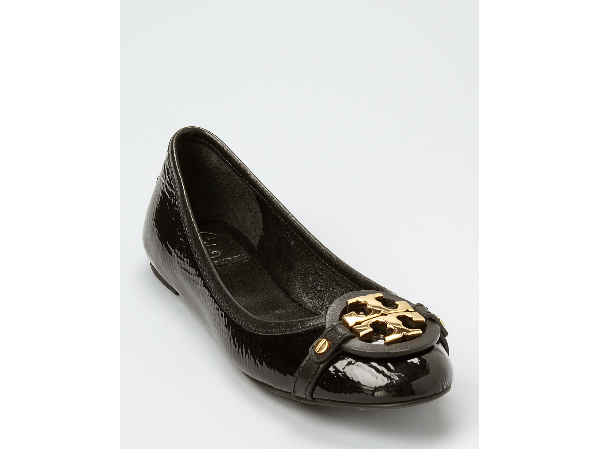 2426397f95c ... coupon code for lyst tory burch flats aaden ballet in black 80899 84602  ...