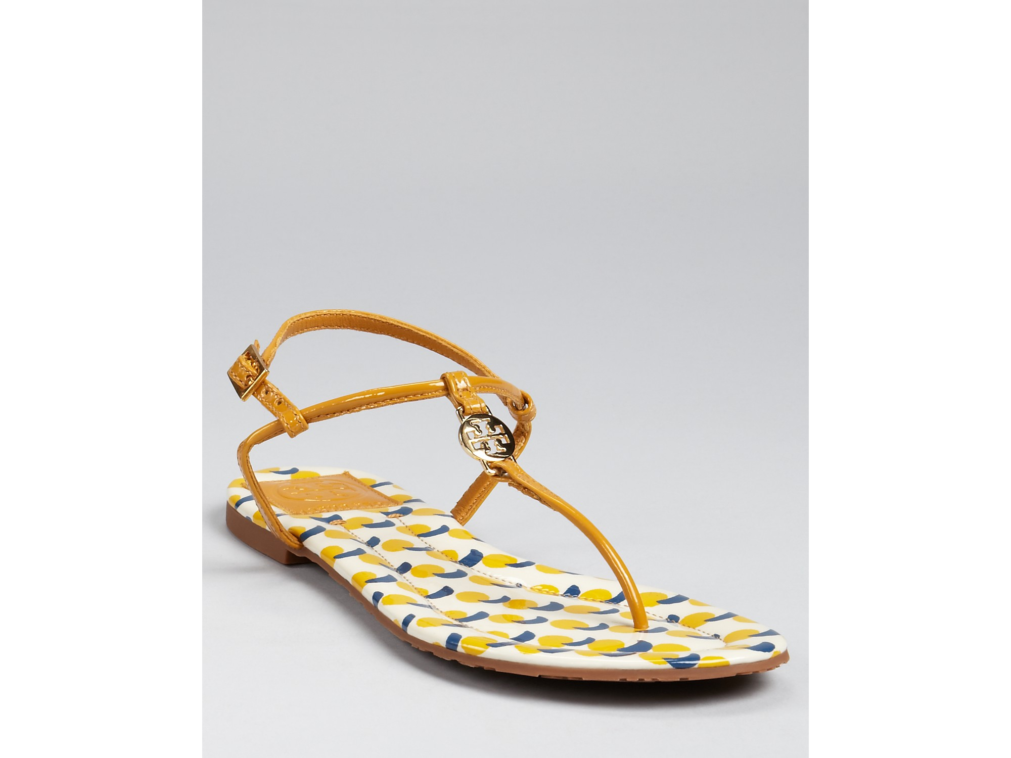 390008af7 Lyst - Tory Burch Sandals Emmy Flat in Yellow