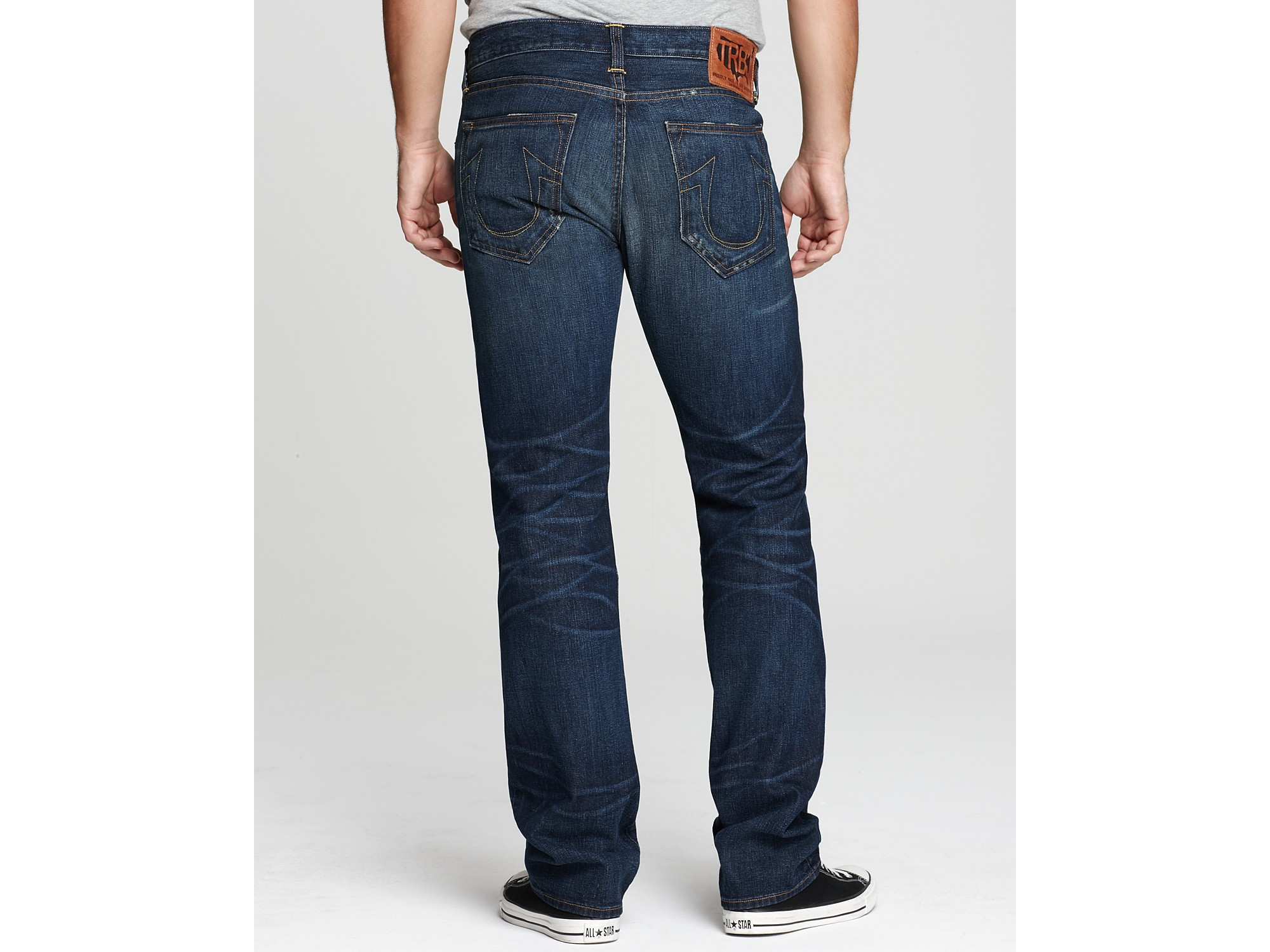 true religion bobby straight leg jeans in blue for men blue grass lyst. Black Bedroom Furniture Sets. Home Design Ideas