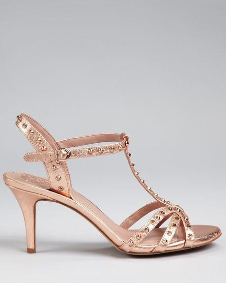 Vince Camuto Yoglin High Heel Sandals In Gold Rosegold