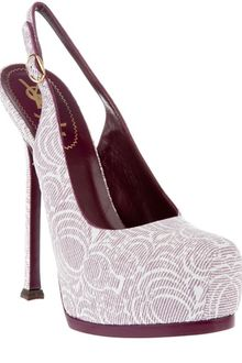 Yves Saint Laurent Tribute Slingback Pump - Lyst