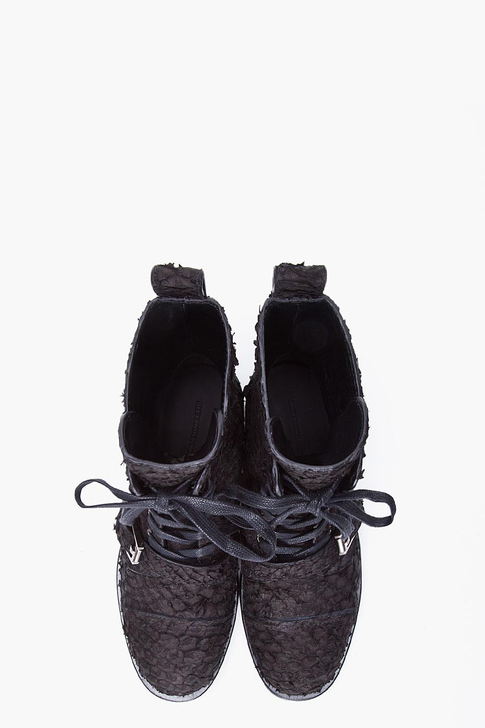 Alexander Wang Black Daria Buckle Combat Boots Lyst