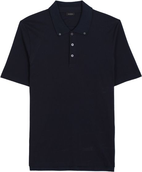 Jil Sander Cotton Polo in Purple for Men - Lyst