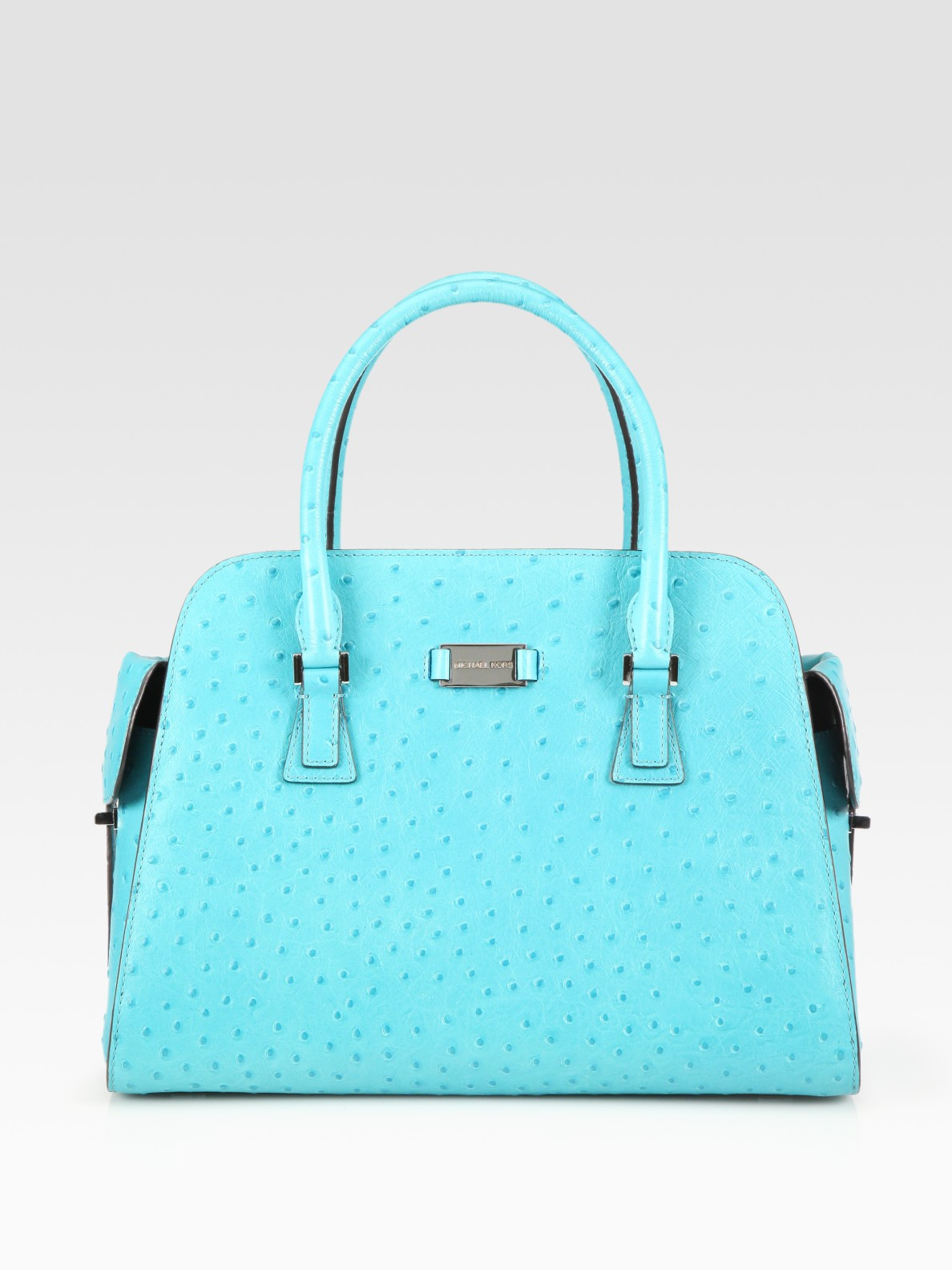 Michael Kors Ostrich Stamped Satchel In