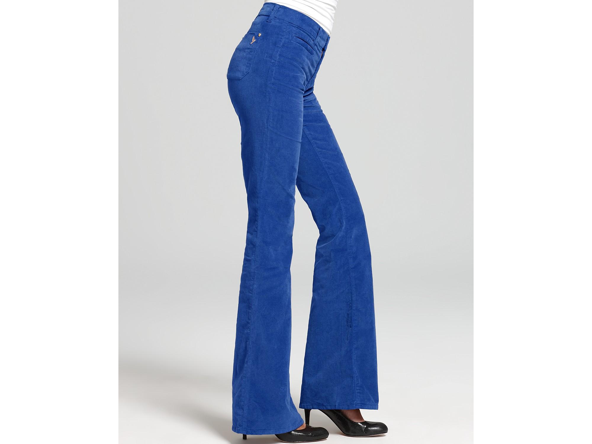 M.i.h jeans Pants Marrakesh Colored Velvet Flare Pants in Blue | Lyst