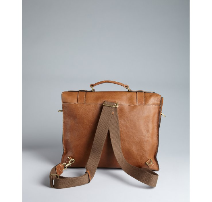 b79a9b7fa95 ... nextprev. prevnext 92d93 14be9 coupon code for lyst mulberry brown  leather ted convertible messenger bag in brown 513b0 d0ed6 ...