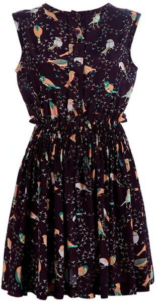 See By Chloé Bird Dress in Purple