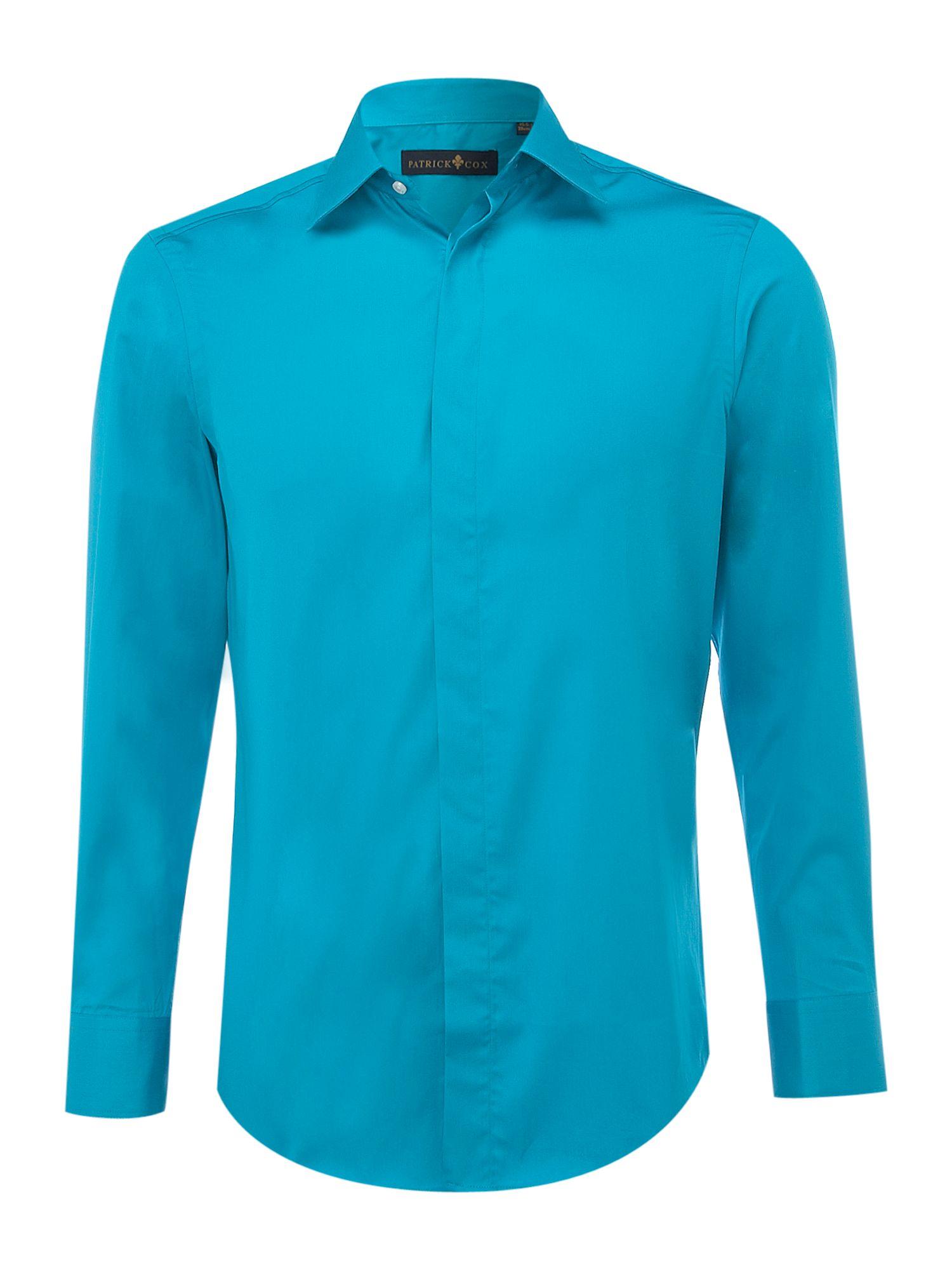 Patrick cox Longsleeve Plain Poplin Formal Shirt in Blue for Men ...