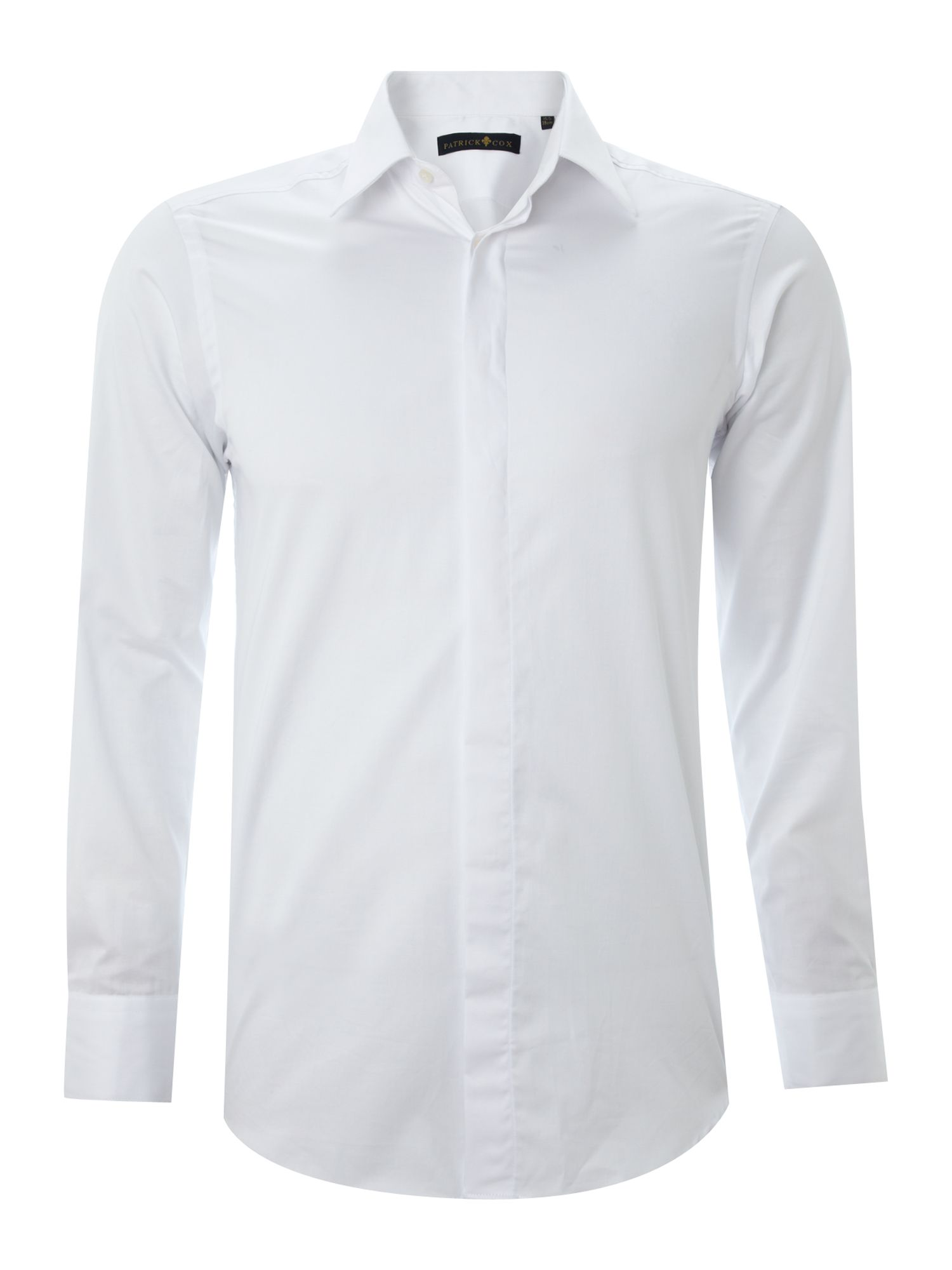 Lyst patrick cox longsleeve plain poplin formal shirt in for Boys white formal shirt