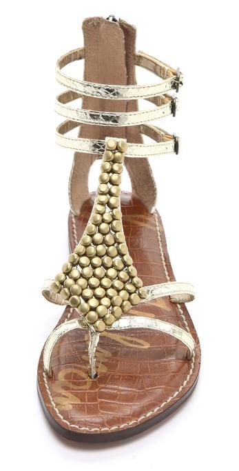 Lyst Sam Edelman Ginger Studded Gladiator Sandals In